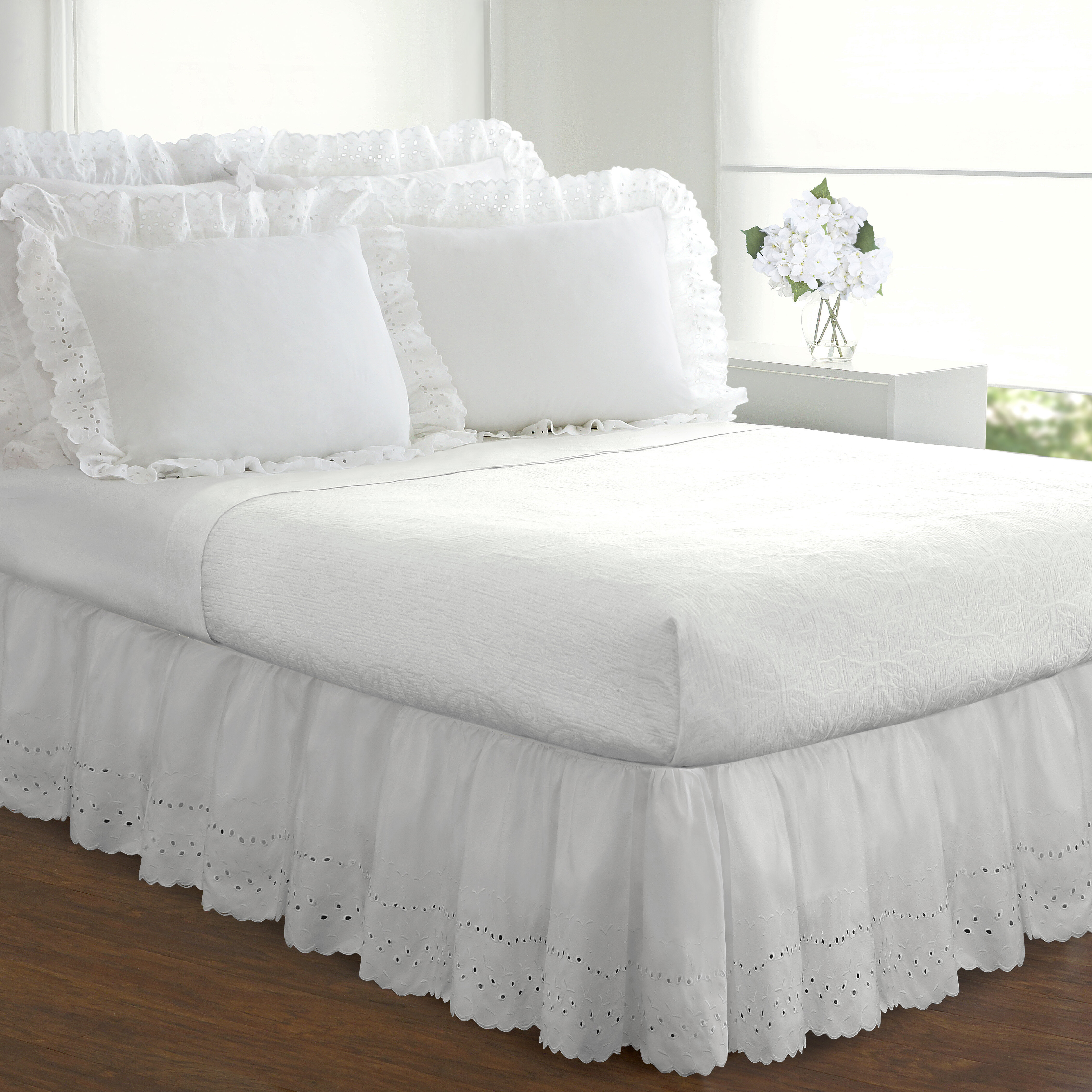 Dakota Eyelet Extra Long 145 Thread Count 18 Bed Skirt Reviews