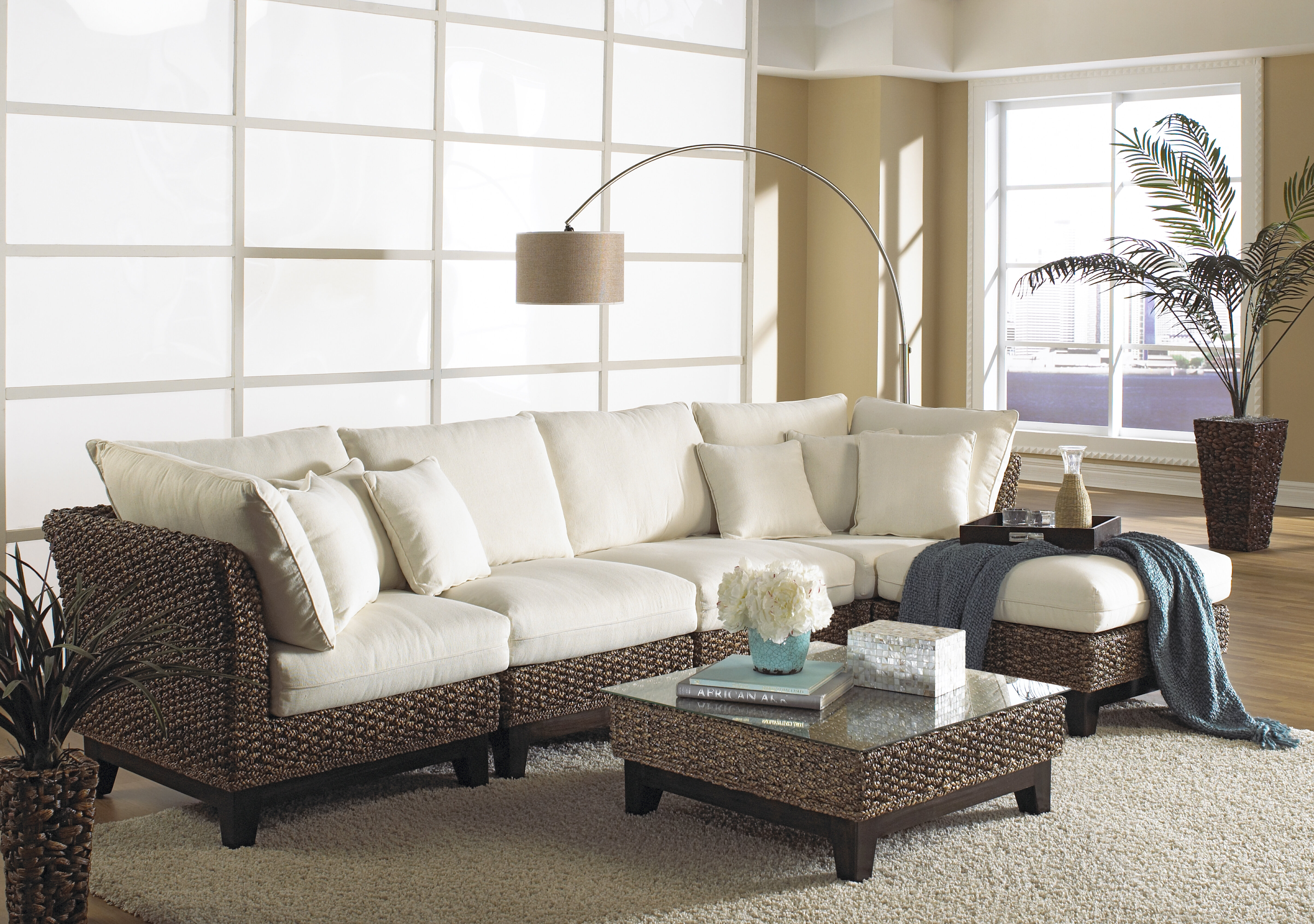 Panama Jack Sunroom Sanibel Sectional with Ottoman & Reviews | Wayfair