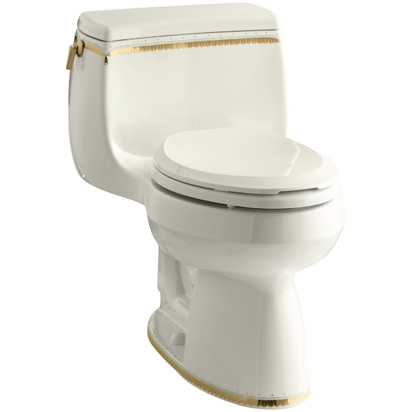 Memoirs 1.28 GPF Comfort Height Elongated Toilet 1 Piece by Kohler