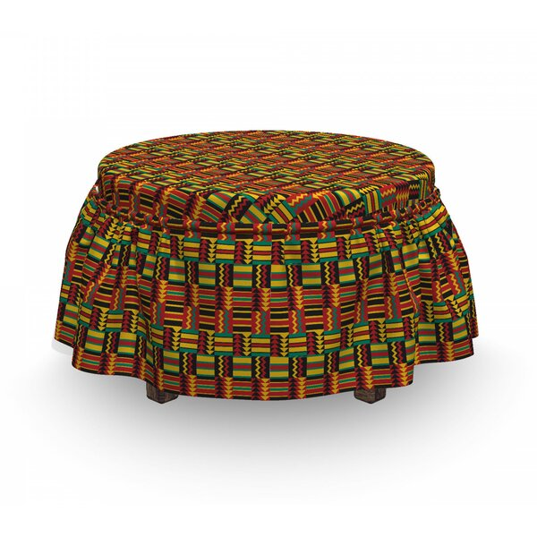 Zimbabwe Ottoman Slipcover (Set Of 2) By East Urban Home