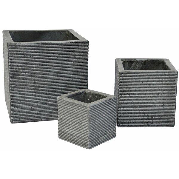 Chun 3-Piece Concrete Planter Box Set by 17 Stories