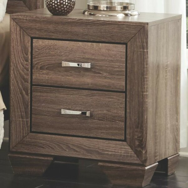 Shumway Transitional Style Wooden 2 Drawer Nightstand by Gracie Oaks