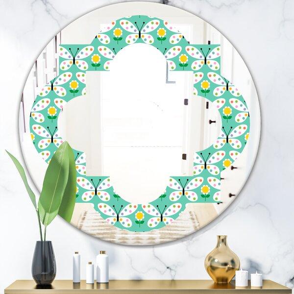 Quatrefoil Abstract Design V Modern Wall Mirror