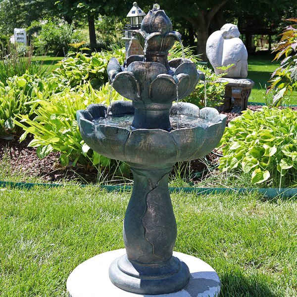 Fiberglass Flower Petal 3-Tier Water Fountain by Wildon Home ®