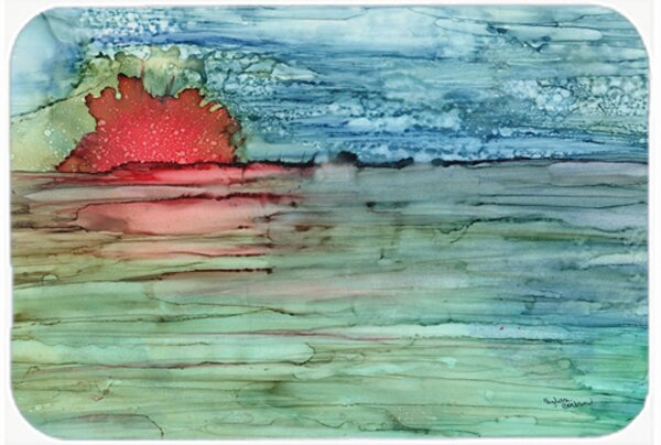 Abstract Sunset on the Water Kitchen/Bath Mat by Caroline's Treasures