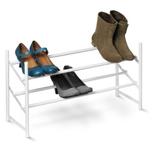Online Reviews Expandable 2-Tier 8 Pair Shoe Rack (Set of 2) By Rebrilliant