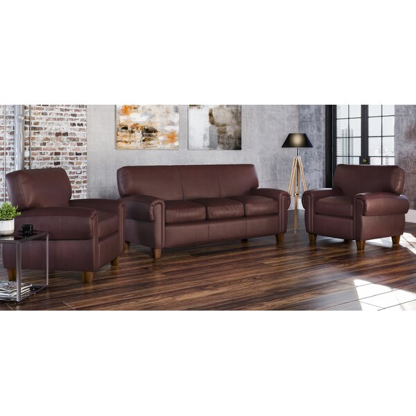 Bailey 3 Piece Leather Living Room Set