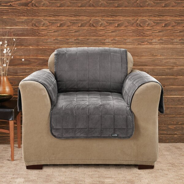 Deluxe Comfort Box Cushion Armchair Slipcover by Sure Fit