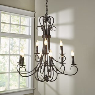 Candle chandeliers youll love wayfair gaines 9 light candle style chandelier aloadofball Image collections