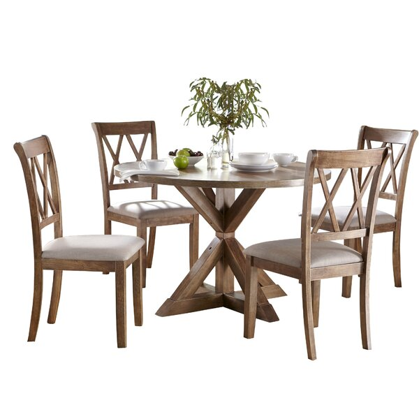 Byerly Pedestal 5 Piece Dining Set by Ophelia & Co. Ophelia & Co.