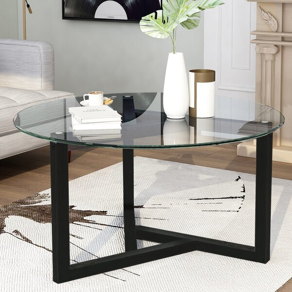 Betances Cross Legs Coffee Table By Brayden Studio