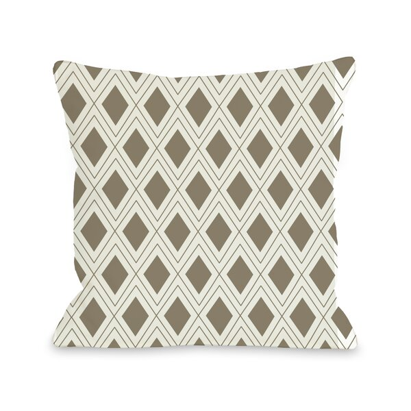 Criss Cross Diamonds Geometric Throw Pillow by One Bella Casa