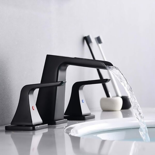 Two-handle Widespread Bathroom Faucet with Drain Assembly