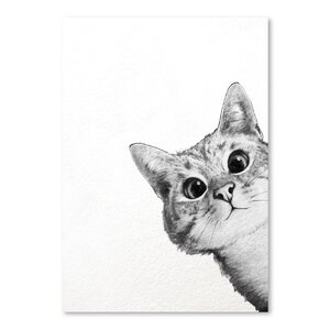 'Sneaky Cat' Graphic Art Print by East Urban Home