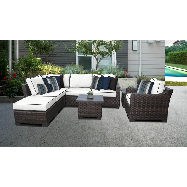 River Brook 8 Piece Sectional Seating Group by kathy ireland Homes & Gardens by TK Classics