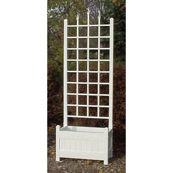 Camelot Planter Vinyl Lattice Panel Trellis by Dura-Trel