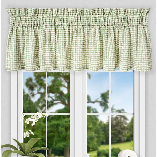 Brandon Ikat Check Tailored 80 Curtain Valance by Langley Street