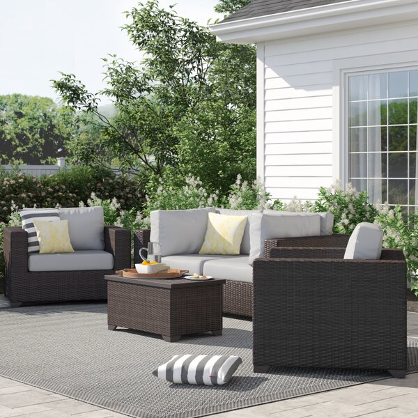 Fernando 5 Piece Rattan Sofa Seating Group with Cushions by Sol 72 Outdoor