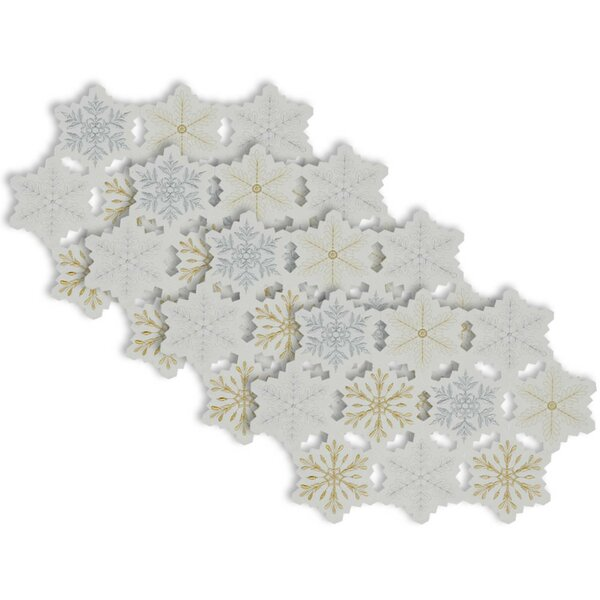 Mccardle Snow Flake Kitchen 19 Placemat (Set of 4) by The Holiday Aisle