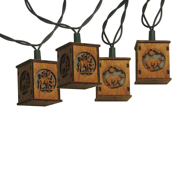 10 Piece Bear and Deer Lantern Light Set by Kurt Adler