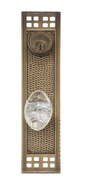 Arts and Crafts Single Cylinder Entrance Knobset by BRASS Accents