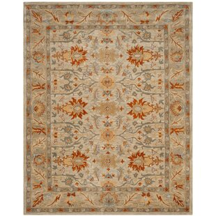 Read Reviews Genemuiden Hand-Tufted Beige Area Rug By World Menagerie