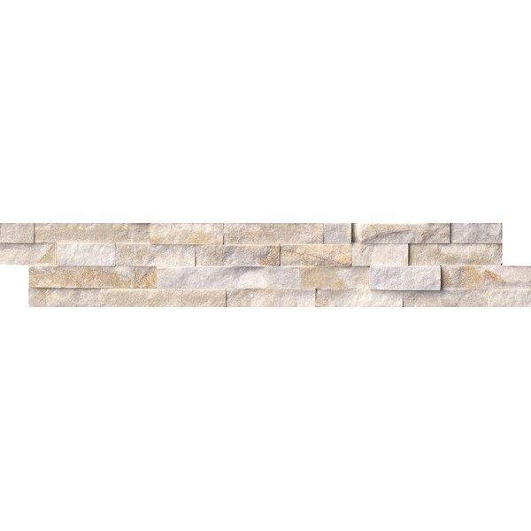 6 x 24 Quartzite Splitface in White/Gold by MSI
