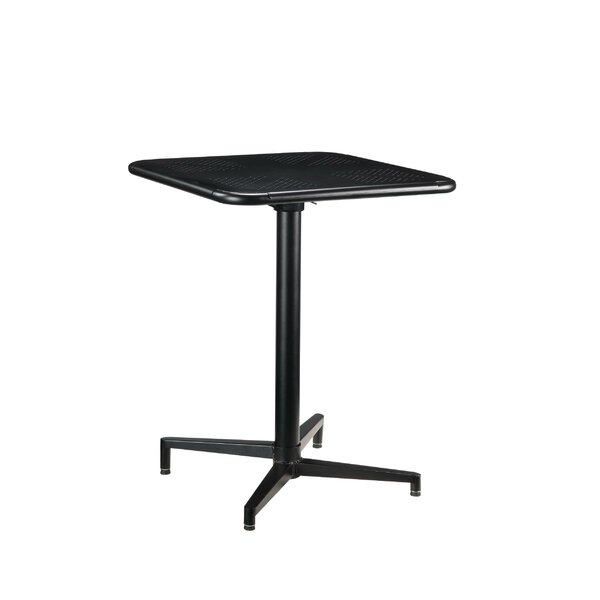 Hanscom Foldable Metal Dining Table by Latitude Run