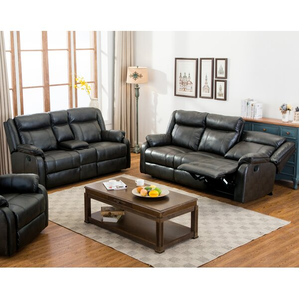 Novia 2 Piece Reclining Living Room Set by Roundhill Furniture