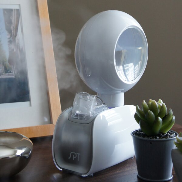 Portable 0.1 Gal. Cool Mist Ultrasonic Console Humidifier by Sunpentown