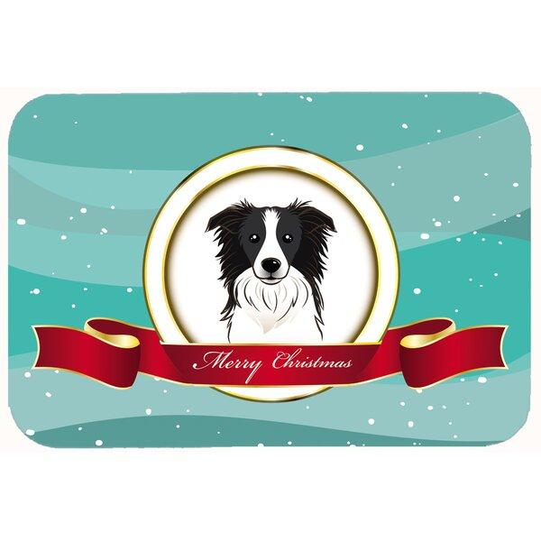 Border Collie Merry Christmas Kitchen/Bath Mat
