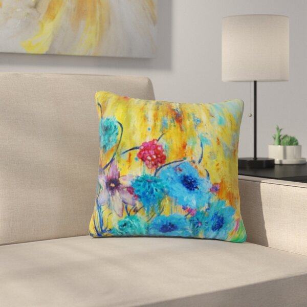 Cosmic Love Garden by Sonal Nathwani Outdoor Throw Pillow by East Urban Home