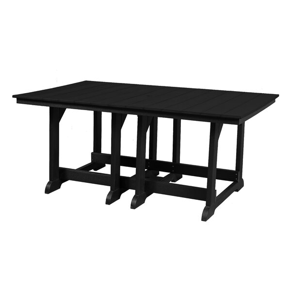 Patricia Plastic Dining Table by Rosecliff Heights