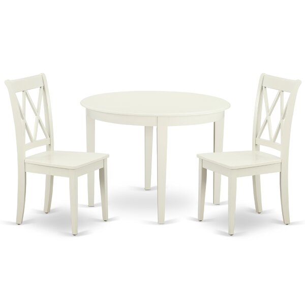 Kozlowski 3 Piece Solid Wood Breakfast Nook Dining Set by August Grove