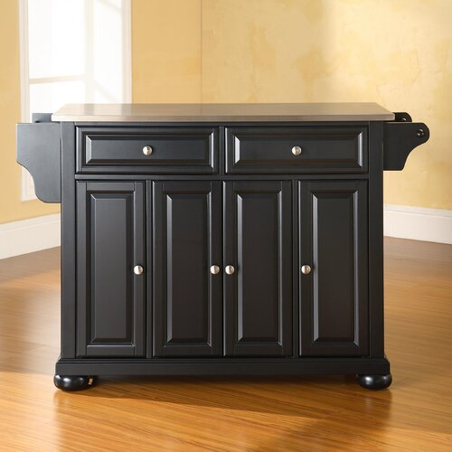 Haslingden Kitchen Island With Butcher Block Top Reviews Birch Lane