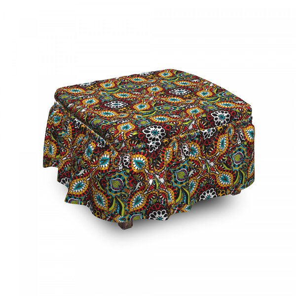 Folklore Ottoman Slipcover (Set Of 2) By East Urban Home