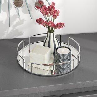 Genial Erela Modern Round Design Mirror Vanity Tray