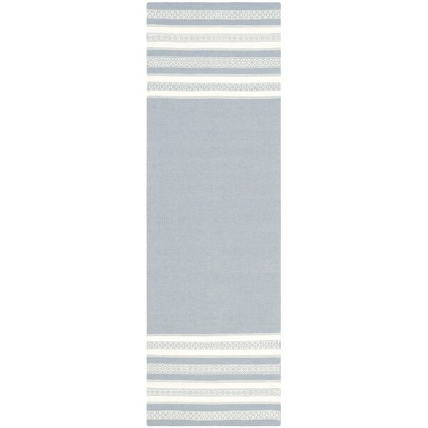 Dhurries Hand Woven Cotton Gray Area Rug by Safavieh