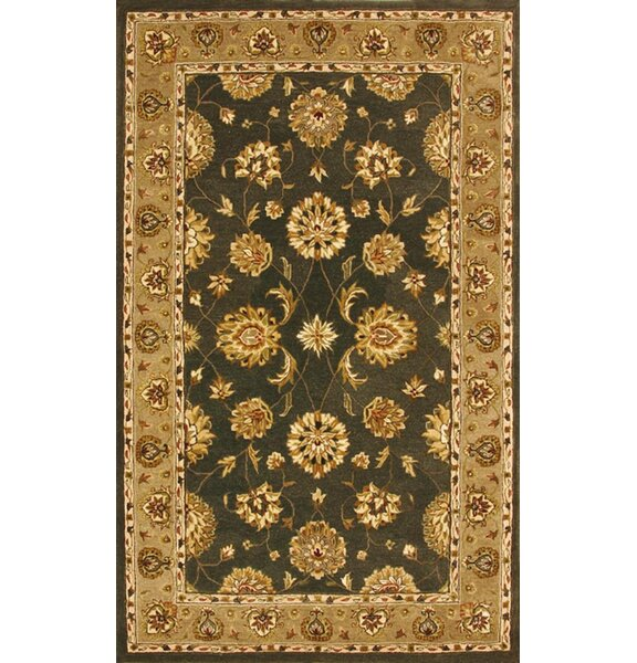 Java Green/Dark Linen Rug by Darby Home Co