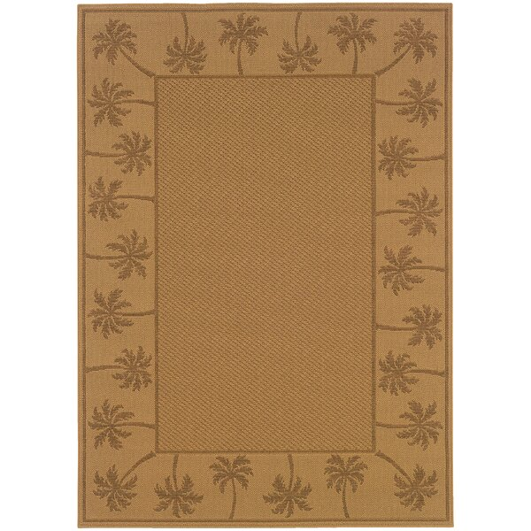 Goldenrod Beige/Tan Indoor/Outdoor Area Rug by Bay Isle Home