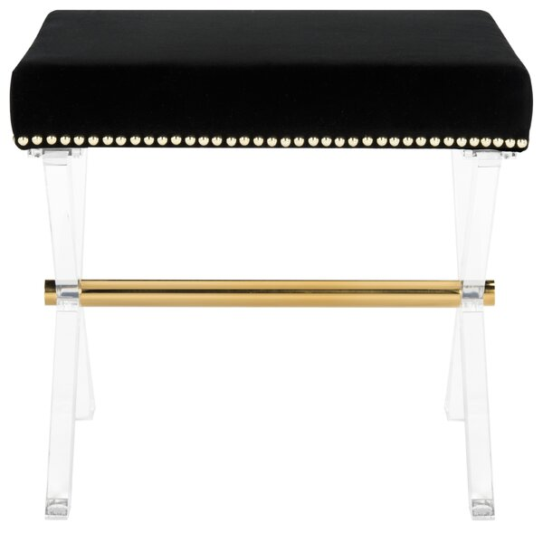 Jasper Acrylic Accent Stool by Everly Quinn