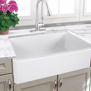 33 Inch White Farmhouse Sink | Wayfair