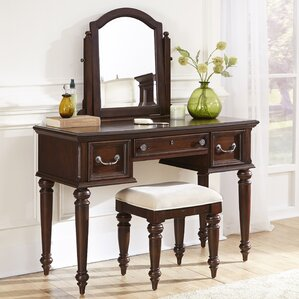 Colonial Classic Vanity Set with Mirror by Home Styles