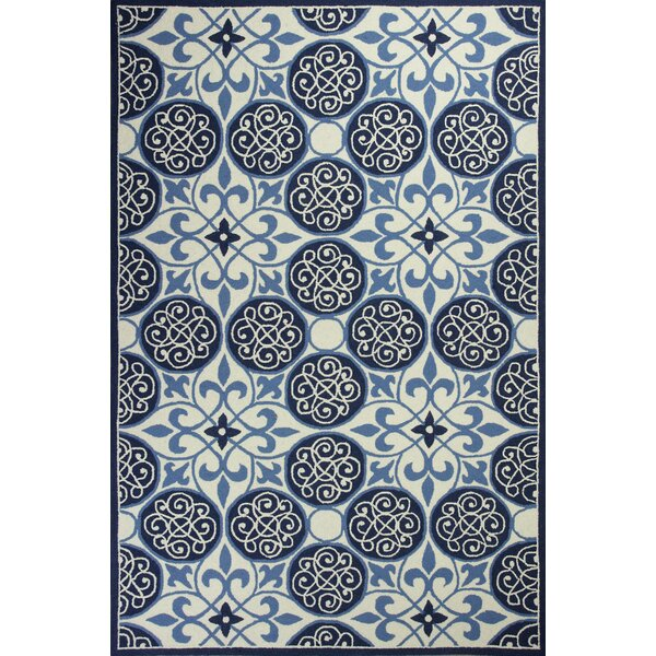 Whitmore Hand-Woven Blue/Ivory Area Rug by Beachcrest Home