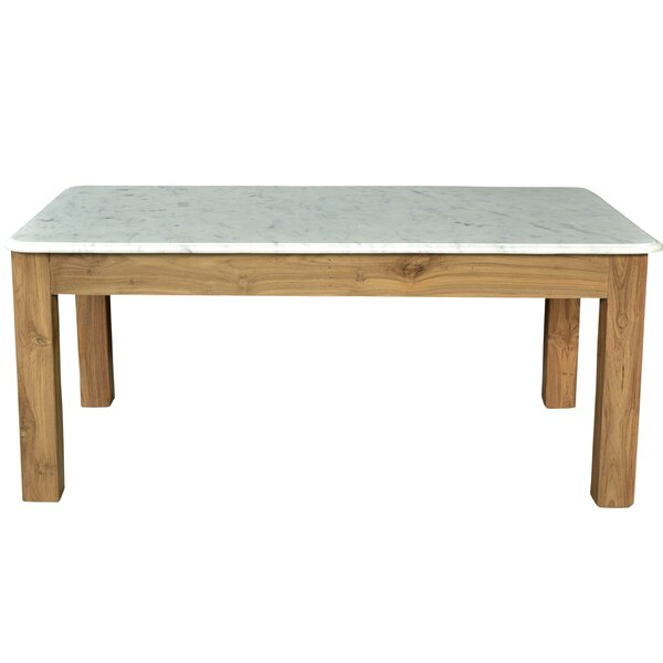 Easterling Teak/Marble Coffee Table with Tray Top by Brayden Studio Brayden Studio