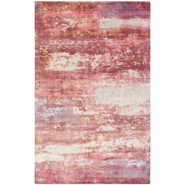 Cuevas Hand-Woven Red/Ivory Area Rug by 17 Stories