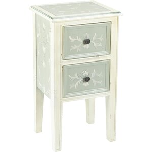 2 Drawer End Table by AA Importing