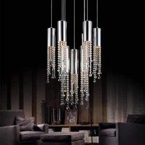 Extended 9-Light LED Cascade Pendant