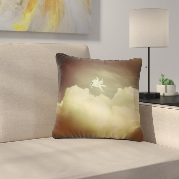 Pegasus by Richard Casillas Outdoor Throw Pillow by East Urban Home