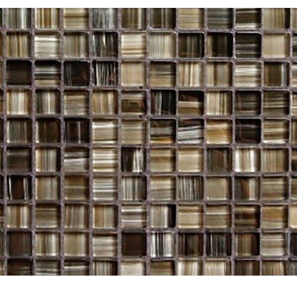 Handicraft II 0.75 x 0.75 Glass Mosaic Tile in Black Sea by Abolos